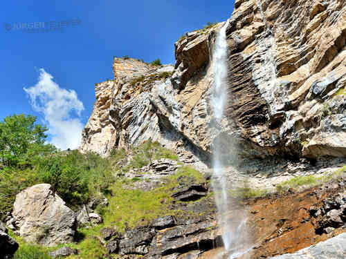 Cascade in the valley of the Var