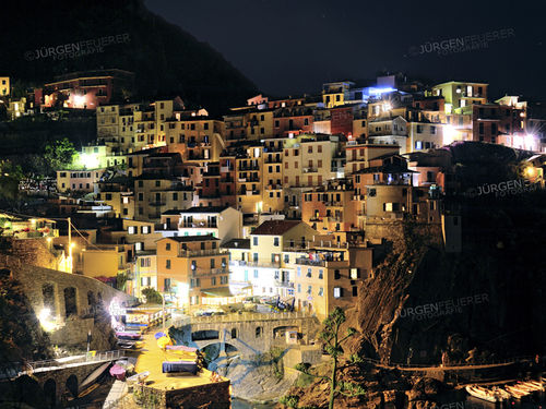 Picturesuqe Manarola at Night