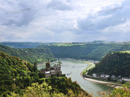 Rhine Gorge with Castle Katz