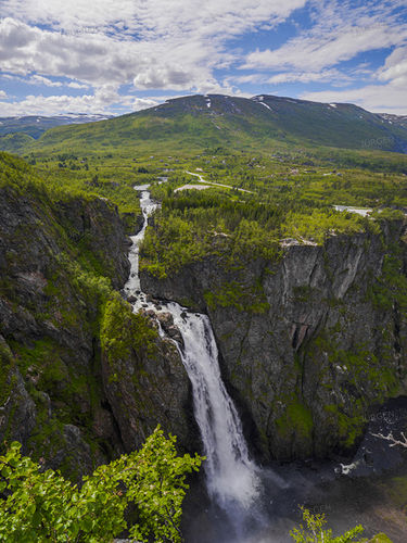 Waterfall  Voringfossen - Norway