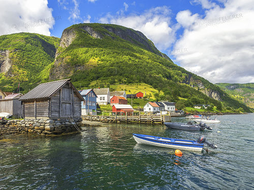 Boathouse on the Sognefjord - Norway
