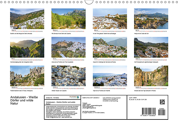Innerview Calendar Andalusia - White Towns and wild nature 2020