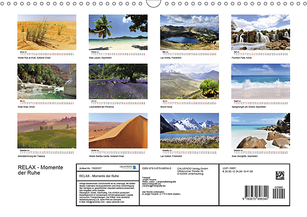 Innerview Calendar Oases to relax 2020