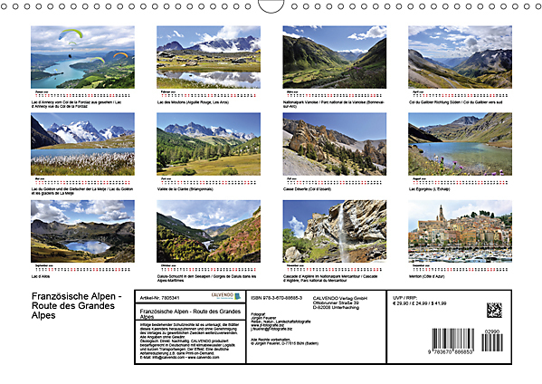 Innerview Calendar Route des Grandes Alpes 2020