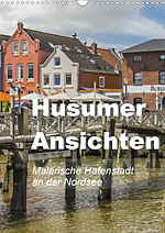 Views of Husum 2020, picturesque seaport on the North Sea