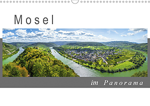 Calendar Mosel in panorama view 2020