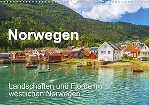 Calendar Norway - landscapes and fjords in western Norway 2021